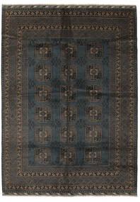 アフガン 絨毯 207X286 オリエンタル 手織り 黒/濃い茶色 (ウール, アフガニスタン)