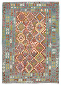 キリム アフガン オールド スタイル 絨毯 172X240 オリエンタル 手織り 深緑色の/濃い茶色 (ウール, アフガニスタン)