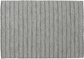 キリム Long Stitch - 黒 / グレー