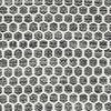 キリム Honey Comb - 黒 / グレー